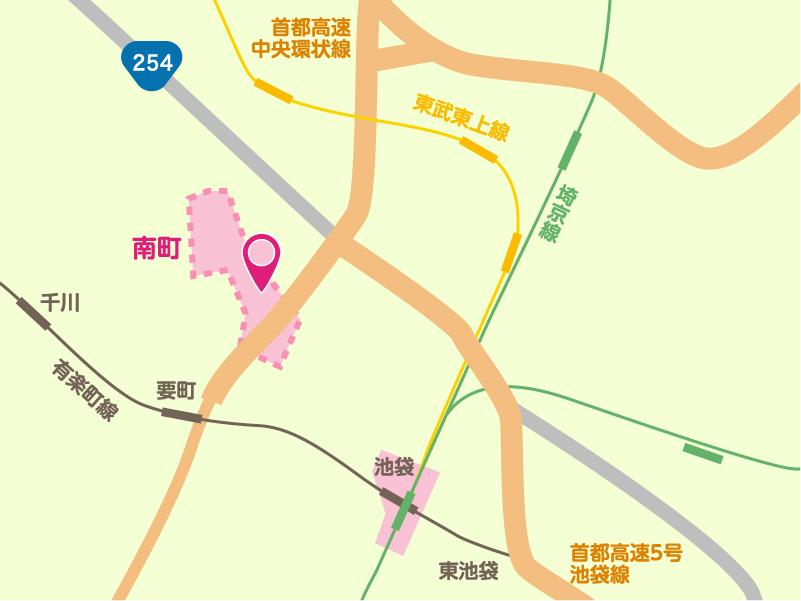 メープルホームの地図